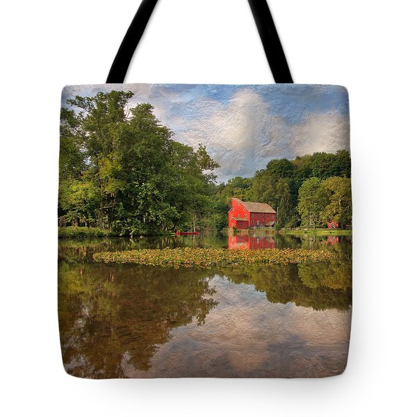 Red Mill Mural Tote Bag