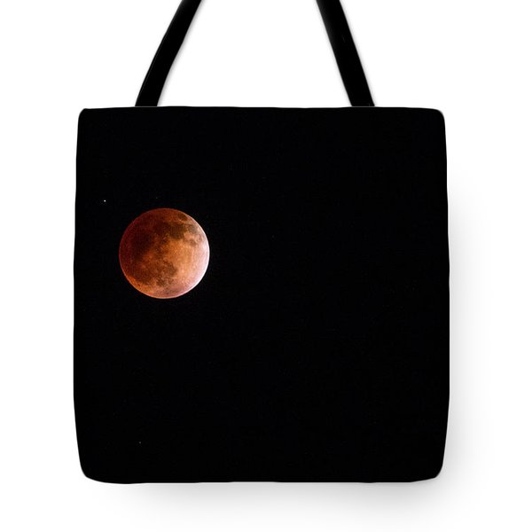 Red Moon And Spica By Denise Dube Tote Bag