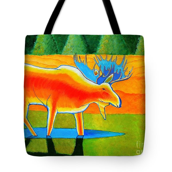 Tote Bag featuring the painting Red Moose by Joseph J Stevens