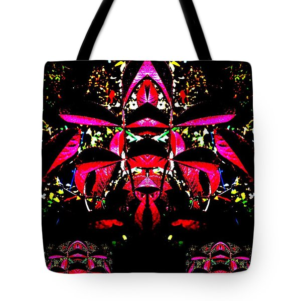 Tote Bag featuring the digital art Red Mosaic by Aliceann Carlton