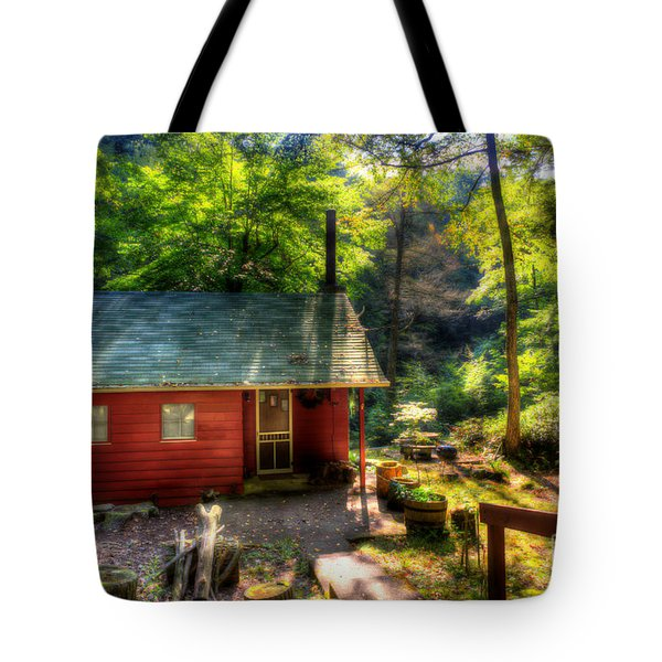 Red Mountain Home Tote Bag by Dan Friend