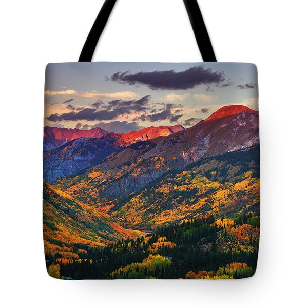Red Mountain Pass Sunset Tote Bag