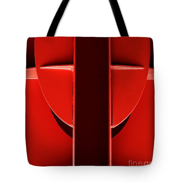 Red Tote Bag by Newel Hunter