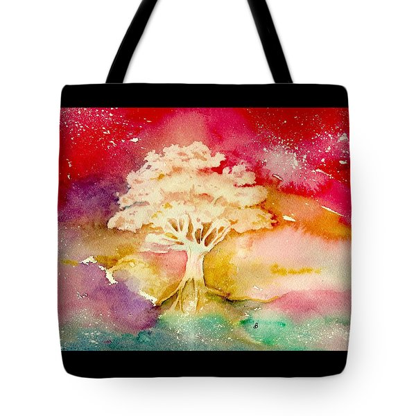 Red Night Tote Bag