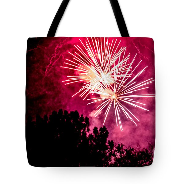 Red Night Tote Bag by Suzanne Luft