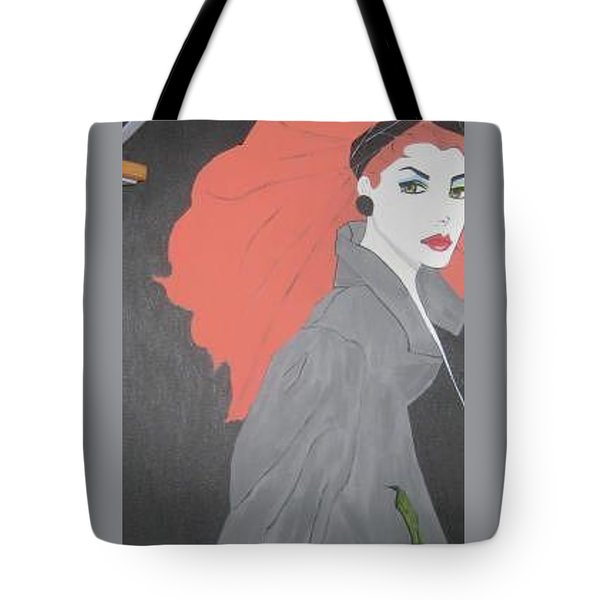 Tote Bag featuring the painting RED by Nora Shepley