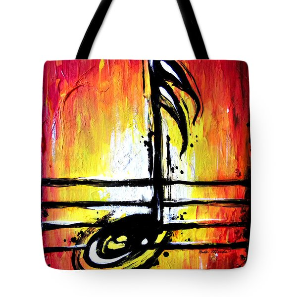 Red Note  Tote Bag