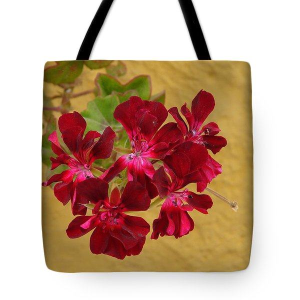 Red On Yellow Tote Bag by Lew Davis