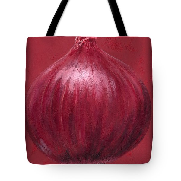 Red Onion Tote Bag by Brian James