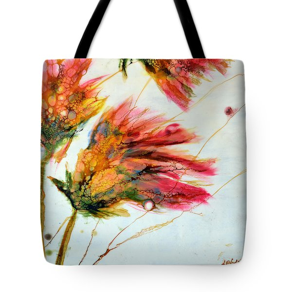 Red Orange Flowers Tote Bag