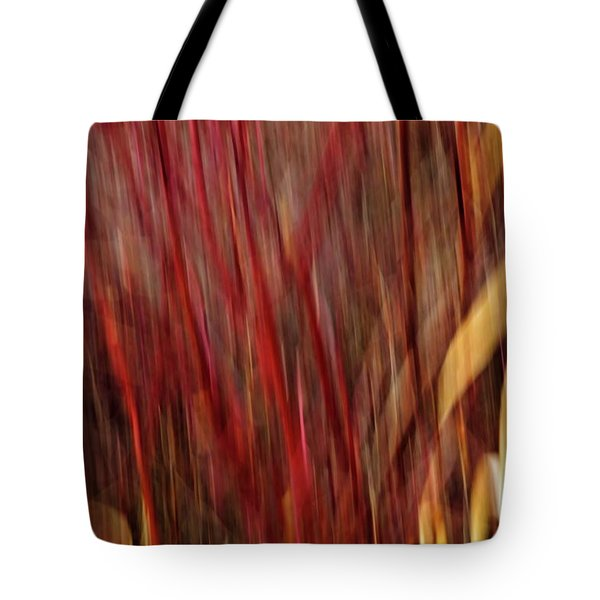 Red Osier Dogwood Tote Bag by Theresa Tahara