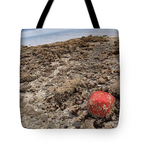 Red Out Of Place Tote Bag