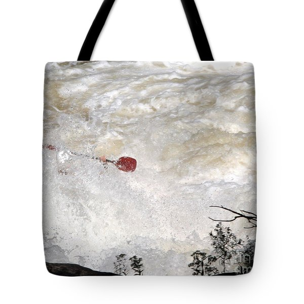 Tote Bag featuring the photograph Red Paddle by Carol Lynn Coronios