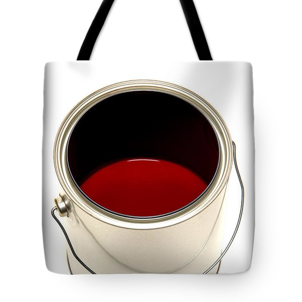 Red Paint Tote Bag