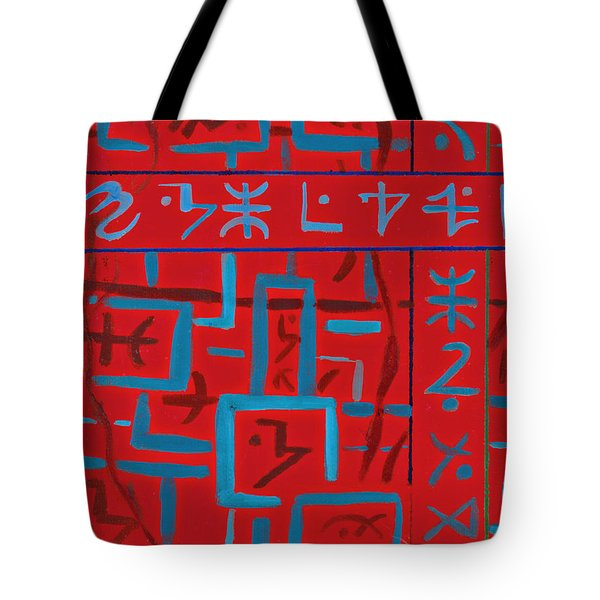 Red Painting Tote Bag