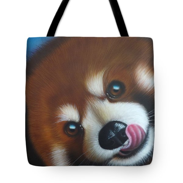 Red Panda Tote Bag