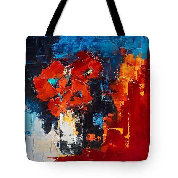 Tote Bag featuring the painting Red Passion by Elise Palmigiani
