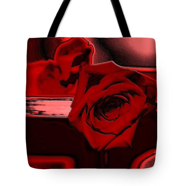 Red Passion. Rose Tote Bag