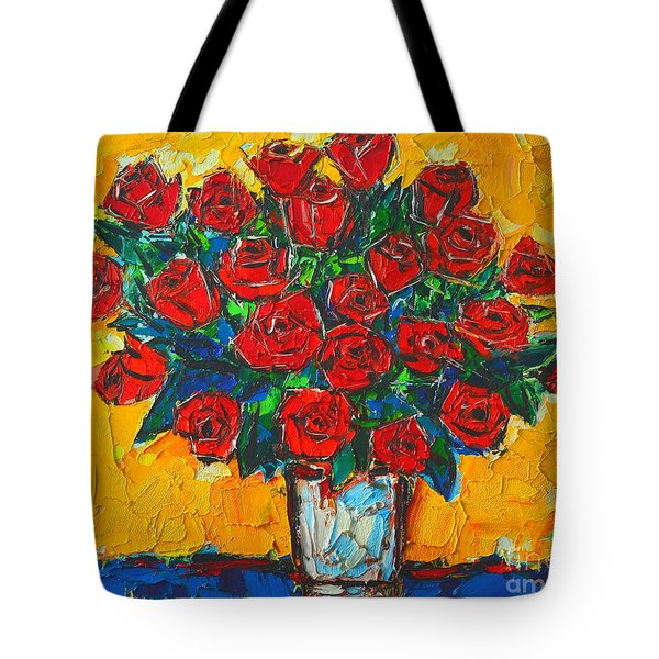 Red Passion Roses Tote Bag by Ana Maria Edulescu