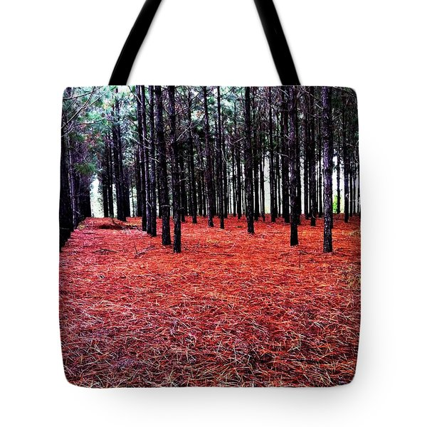 Red Path Tote Bag