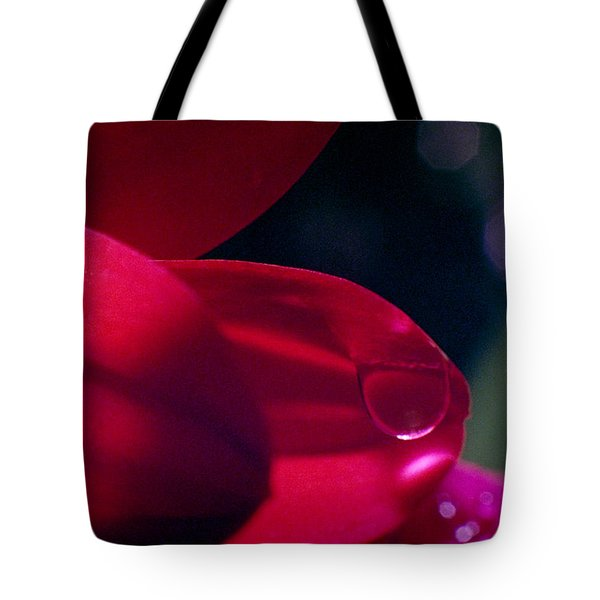 Tote Bag featuring the photograph Red Petal by Mark Greenberg