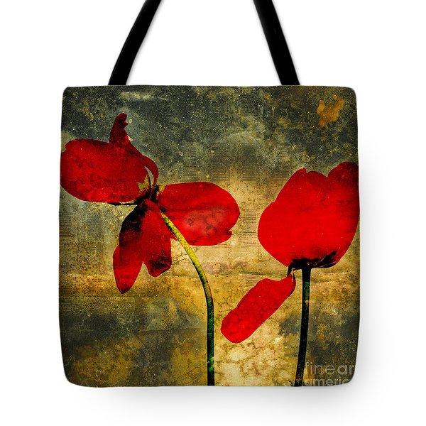 Red Petals Tote Bag