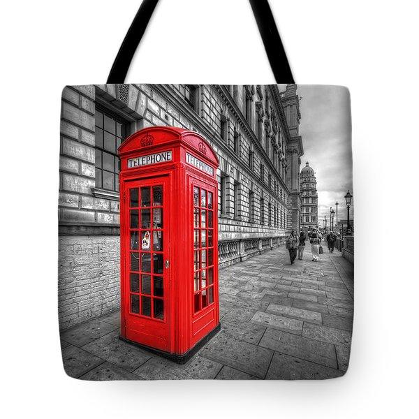 Red Phone Box And Big Ben Tote Bag