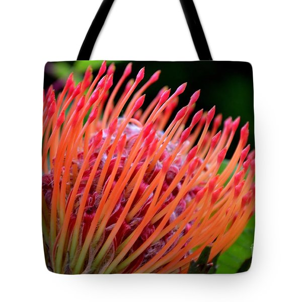 Red Pin Cushion Tote Bag by Scott Lyons