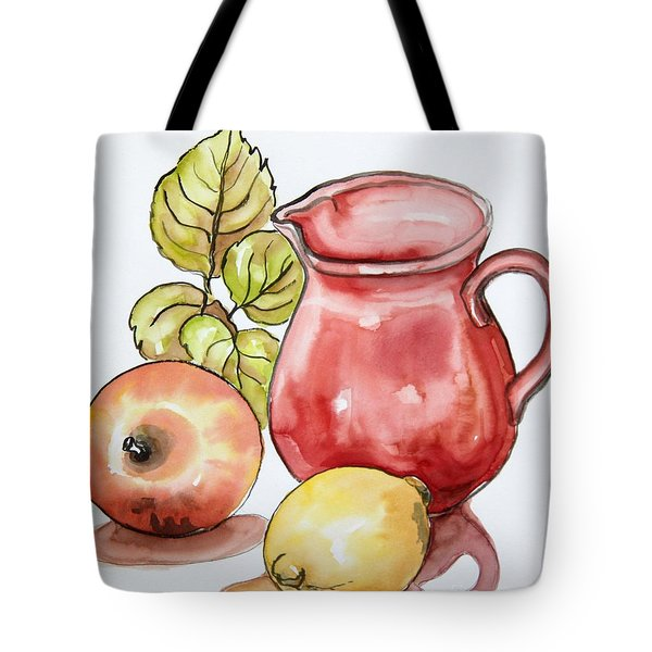 Red Pitcher Kitchen Still Life Tote Bag