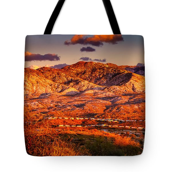 Red Planet Tote Bag by Mark Myhaver