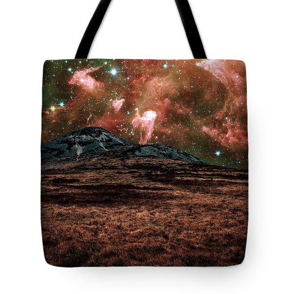 Red Planet Tote Bag by Semmick Photo