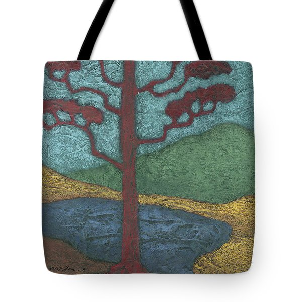 Red Ponderosa Tote Bag