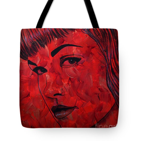 Red Pop Bettie Tote Bag