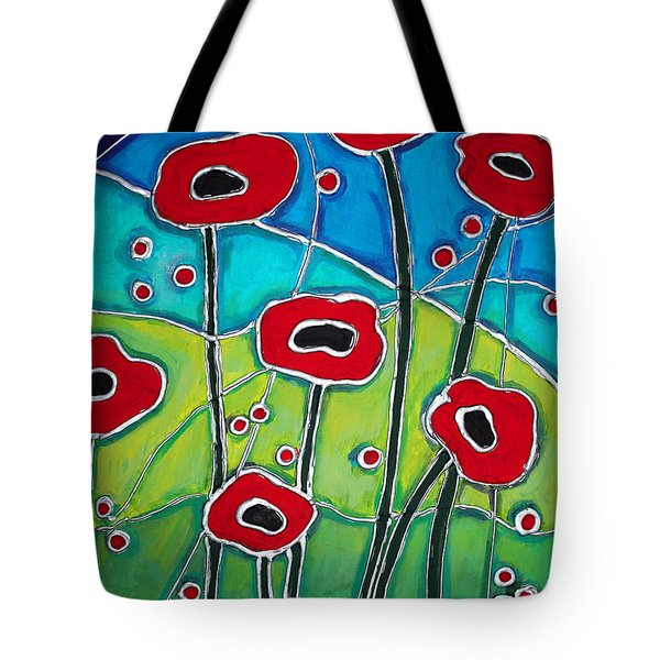 Red Poppies 1 Tote Bag