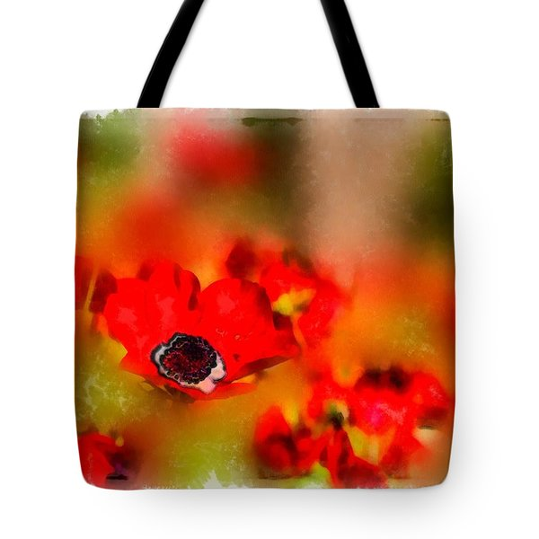 Red Poppies Inspiration Tote Bag