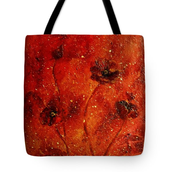 Red Poppies Tote Bag by Robin Monroe