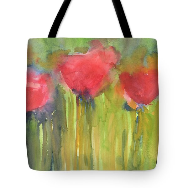 Red Poppy Elegance Tote Bag