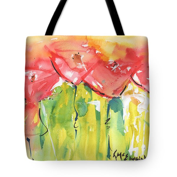 Red Poppy Party Tote Bag