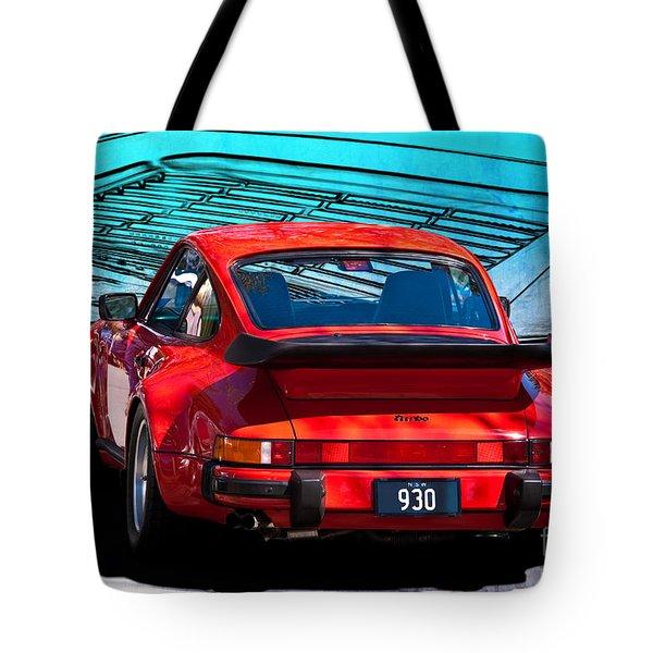 Red Porsche 930 Turbo Tote Bag