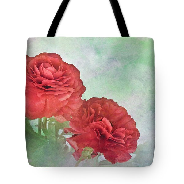 Red Ranunculus Tote Bag by David and Carol Kelly