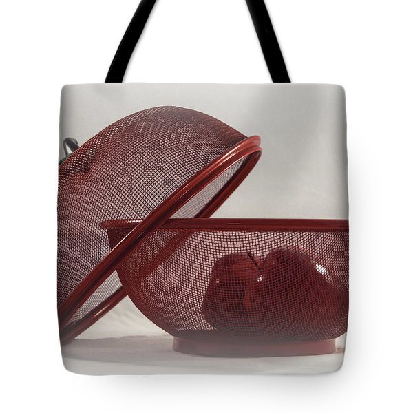 Red Red Apples Tote Bag by Judy Hall-Folde