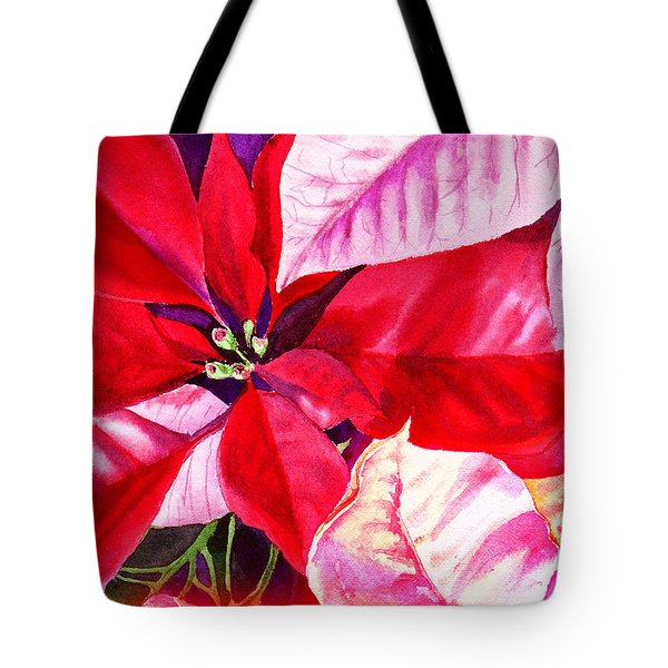 Red Red Christmas Tote Bag by Irina Sztukowski