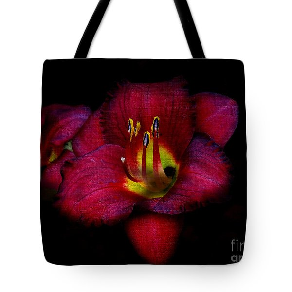 Red Red Lily Tote Bag