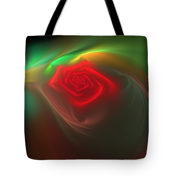 Tote Bag featuring the digital art Red Red Rose by Svetlana Nikolova