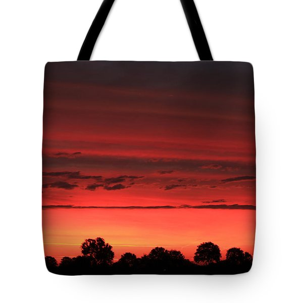 Red Red Sunrise Tote Bag