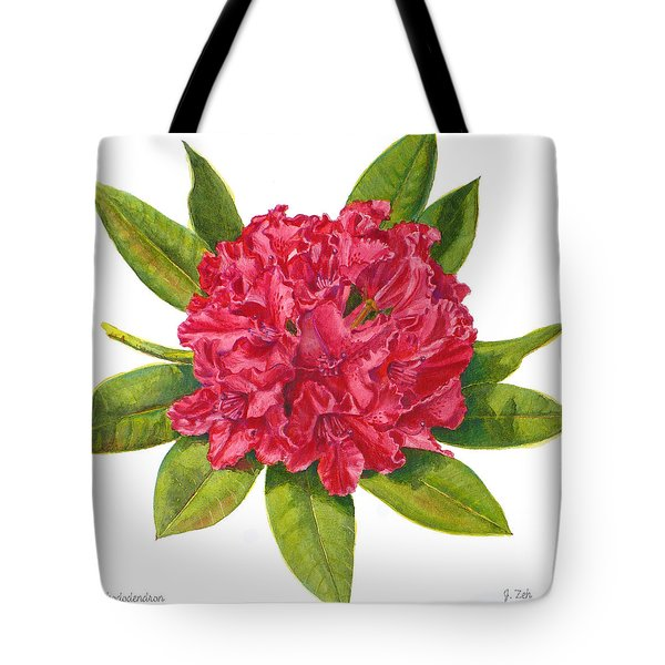 Red Rhododendron  Tote Bag