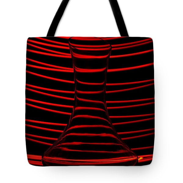 Red Rhythm Tote Bag by Davorin Mance