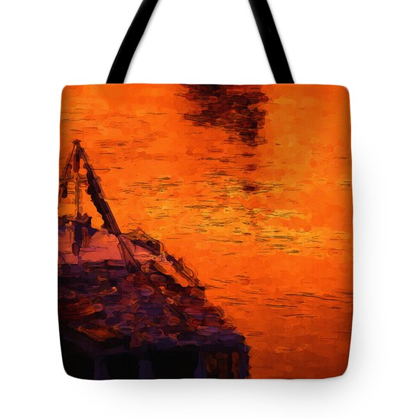 Red Rider Tote Bag by Ayse Deniz