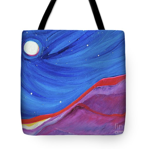 Tote Bag featuring the painting Red Ridge By Jrr by First Star Art