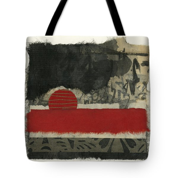 Red Rising Sun Tote Bag